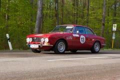 1972年阿尔法・罗密欧在ADAC符腾堡历史的Rallye的GTV 2000年2013年 免版税库存图片
