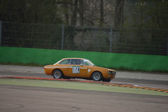 阿尔法・罗密欧朱莉娅GTAm 1750测试2016年在蒙扎 库存照片