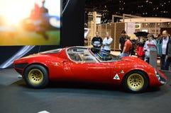 1967年阿尔法・罗密欧33在dispay的Stradale在Chicgago车展 库存图片