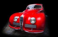 阿尔法・罗密欧6C 2300B黑暗的背景爱德乐特伦普夫小辈棕色豪华减速火箭的汽车Cabrio大型高级轿车黑暗背景 库存图片