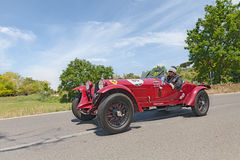 阿尔法・罗密欧6C 1500 GS Zagato (1933)在Mille Miglia 2014年 库存照片