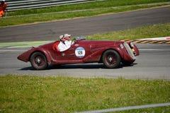 1938年阿尔法・罗密欧6C 2300 Mille Miglia蜘蛛游览 免版税库存照片
