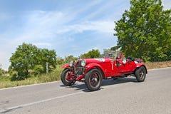 阿尔法・罗密欧6C 1500 MMS (1928)在Mille Miglia 2014年 库存图片