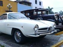 阿尔法・罗密欧Giulietta Sprint在利马停放的Speciale 库存照片