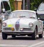 阿尔法・罗密欧Giulietta Sprint 1955年 免版税库存图片