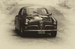 阿尔法・罗密欧GIULIETTA SPRINT 1956年 库存照片