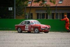 1959年阿尔法・罗密欧Giulietta Sprint Veloce在蒙扎 库存图片