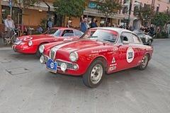 阿尔法・罗密欧Giulietta Sprint Veloce (1961) 库存照片