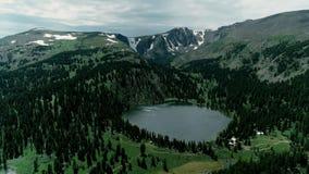 阿尔泰山的湖 免版税库存图片
