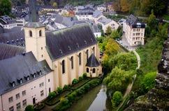 阿尔泽特河,卢森堡看法  免版税库存照片