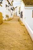 阿尔特阿地中海村庄,贝尼多姆,西班牙看法从阿利坎特海岸的 库存图片