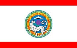 阿尔玛蒂,哈萨克斯坦旗子  向量例证