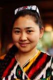 从阿尔玛蒂,哈萨克斯坦的女服务员 免版税图库摄影