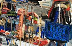 阿尔玛蒂,哈萨克斯坦:传统纪念品 免版税库存照片