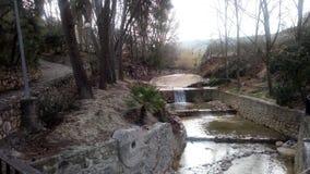 阿尔瓦伊达河,从Benisoda & x28; Valencia& x29; & x28; Spain& x29; 图库摄影