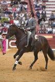 阿尔瓦斯Montes,在马背上斗牛士西班牙巫婆garrocha 免版税库存图片