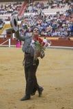 阿尔瓦斯Montes,在马背上斗牛士西班牙巫婆garrocha 免版税库存照片