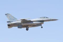 阿尔瓦萨特,西班牙- 4月11 :军用喷气式歼击机在阿尔瓦萨特空军基地, 2012年4月11日的Los Llanos (TLP)的示范时在A 库存图片