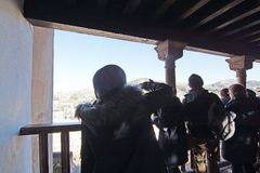 阿尔罕布拉宫内部细节 库存照片