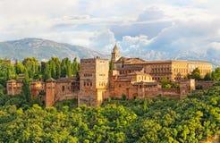 阿尔罕布拉宫古老阿拉伯堡垒 库存图片