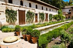 阿尔罕布拉宫在格拉纳达,安达卢西亚,西班牙 免版税库存照片