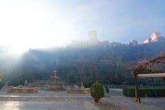 阿尔罕布拉宫宫殿城堡 免版税库存图片