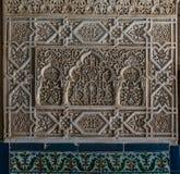阿尔罕布拉宫宫殿细节在格拉纳达,安大路西亚,西班牙 免版税库存图片