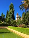阿尔罕布拉宫殿的庭院,格拉纳达,西班牙 免版税库存图片