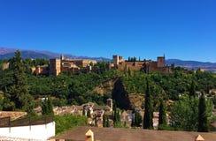 阿尔罕布拉宫殿,格拉纳达,西班牙 免版税图库摄影