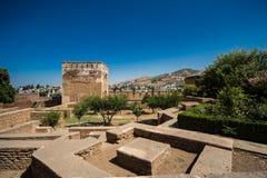 阿尔罕布拉宫的全视图 库存图片