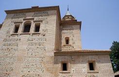 阿尔罕布拉宫的圣玛丽教会在格拉纳达,西班牙 库存照片