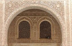 阿尔罕布拉宫的墙壁 图库摄影