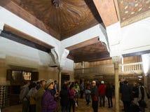 阿尔罕布拉宫皇家复合体的Nasrid宫殿  免版税图库摄影