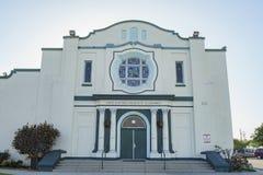 阿尔罕布拉宫第一座施洗约翰教堂外视图  免版税库存图片