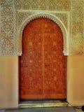 阿尔罕布拉宫装饰门 图库摄影