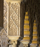阿尔罕布拉宫雕刻 免版税库存图片