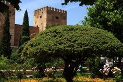阿尔罕布拉宫,安大路西亚,格拉纳达,西班牙 图库摄影