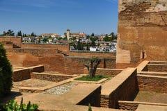 阿尔罕布拉宫,安大路西亚,格拉纳达,西班牙 免版税图库摄影