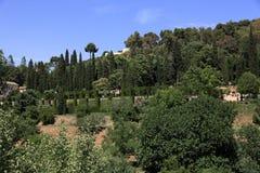 阿尔罕布拉宫,安大路西亚,格拉纳达,西班牙 库存照片