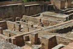 阿尔罕布拉宫,考古学挖掘,格拉纳达,西班牙 免版税库存照片