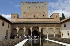 阿尔罕布拉宫, Nasrid宫殿,格拉纳达,西班牙 免版税库存图片