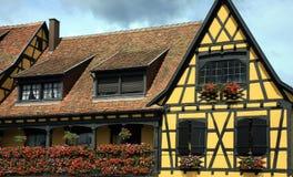 阿尔萨斯法国法语房子 免版税库存图片