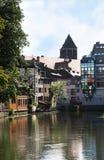 阿尔萨斯法国老小的史特拉斯堡城镇 免版税库存图片