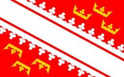 阿尔萨斯,法国旗子  库存例证