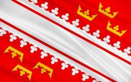 阿尔萨斯,法国旗子  向量例证