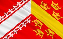 阿尔萨斯,法国旗子  皇族释放例证