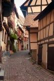 阿尔萨斯eguisheim村庄 库存照片