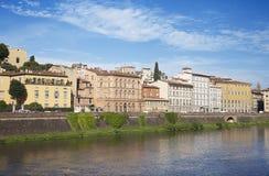 阿尔诺河和江边大厦,佛罗伦萨 库存照片