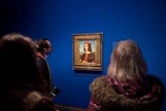 阿尔贝蒂娜博物馆陈列的访客在维也纳 免版税库存照片