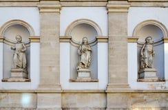 阿尔贝蒂娜画廊,维也纳,奥地利 门面建筑细节  免版税图库摄影